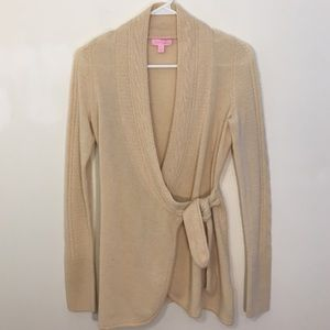 Lilly Pulitzer Tan Cashmere  Cardigan Sweater XS